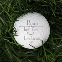 Personalised Message Golf Ball Gift - ideal for sports fans for retirement, Birthday, Father's Day